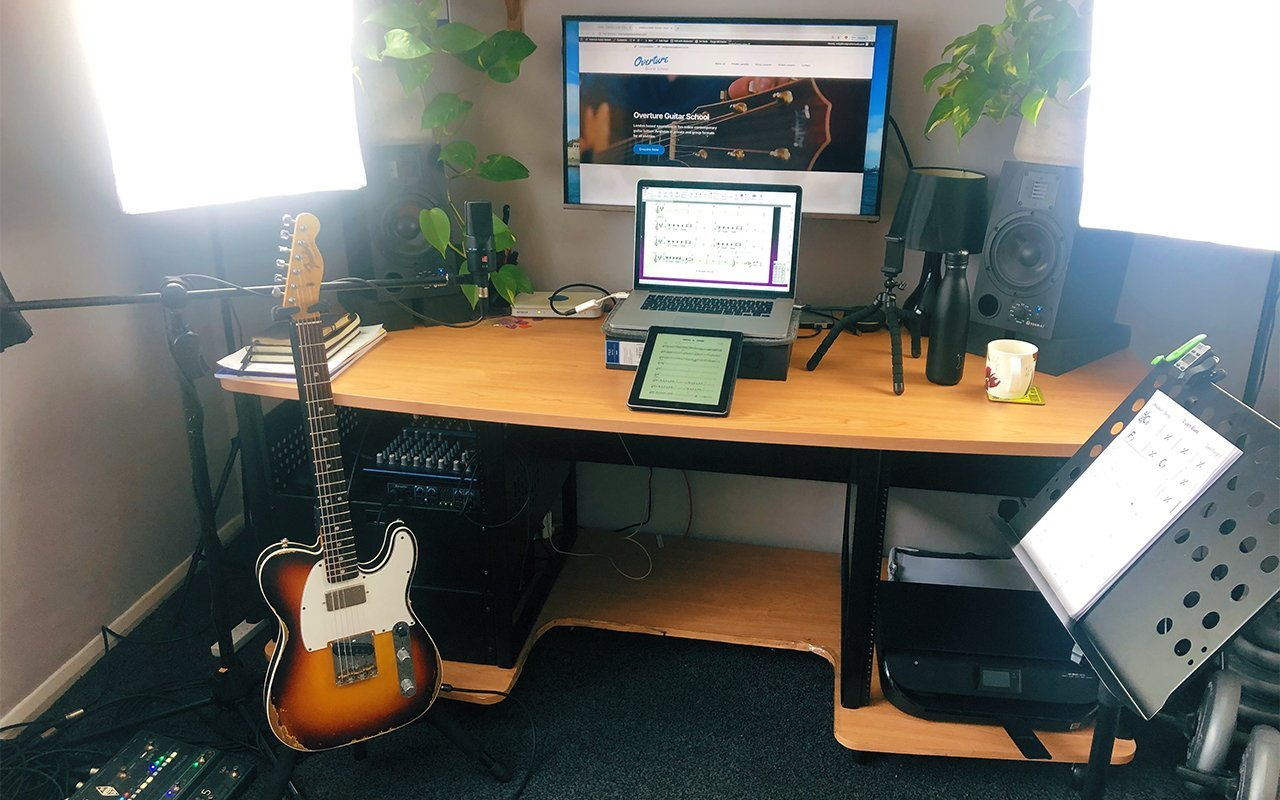 Online Guitar Lessons Home Set Up